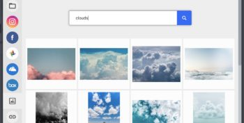 Search for Clouds in Unsplash